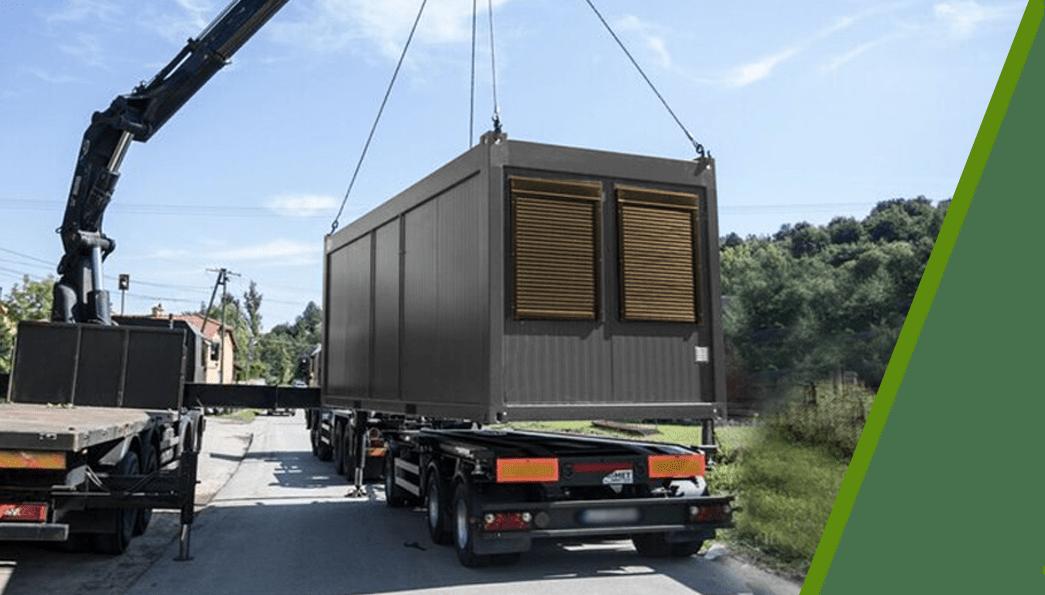 kontenery pawilony transport